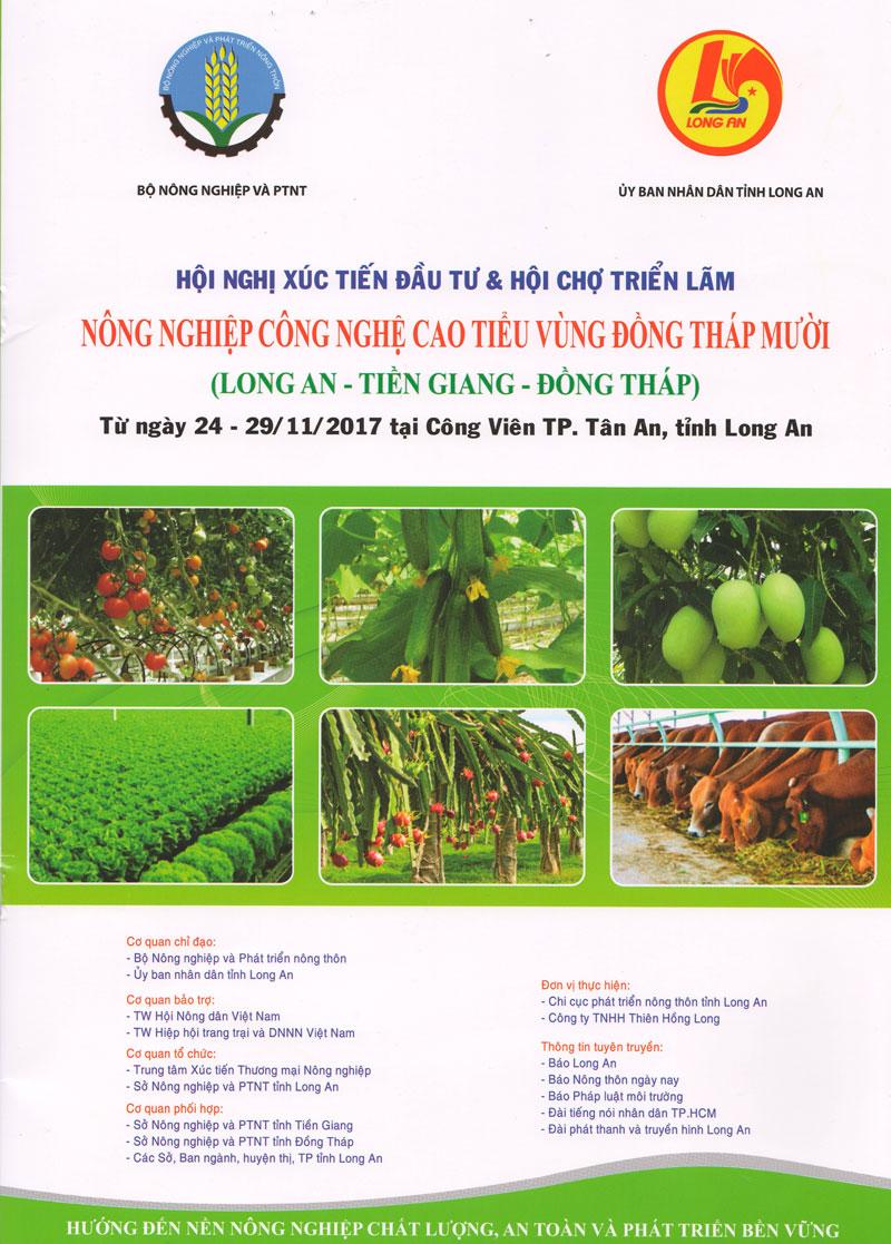 Hội nghị Xúc tiến đầu tư và Hội chợ Triển lãm Nông nghiệp công nghệ cao  tiểu vùng Đồng Tháp Mười năm 2017