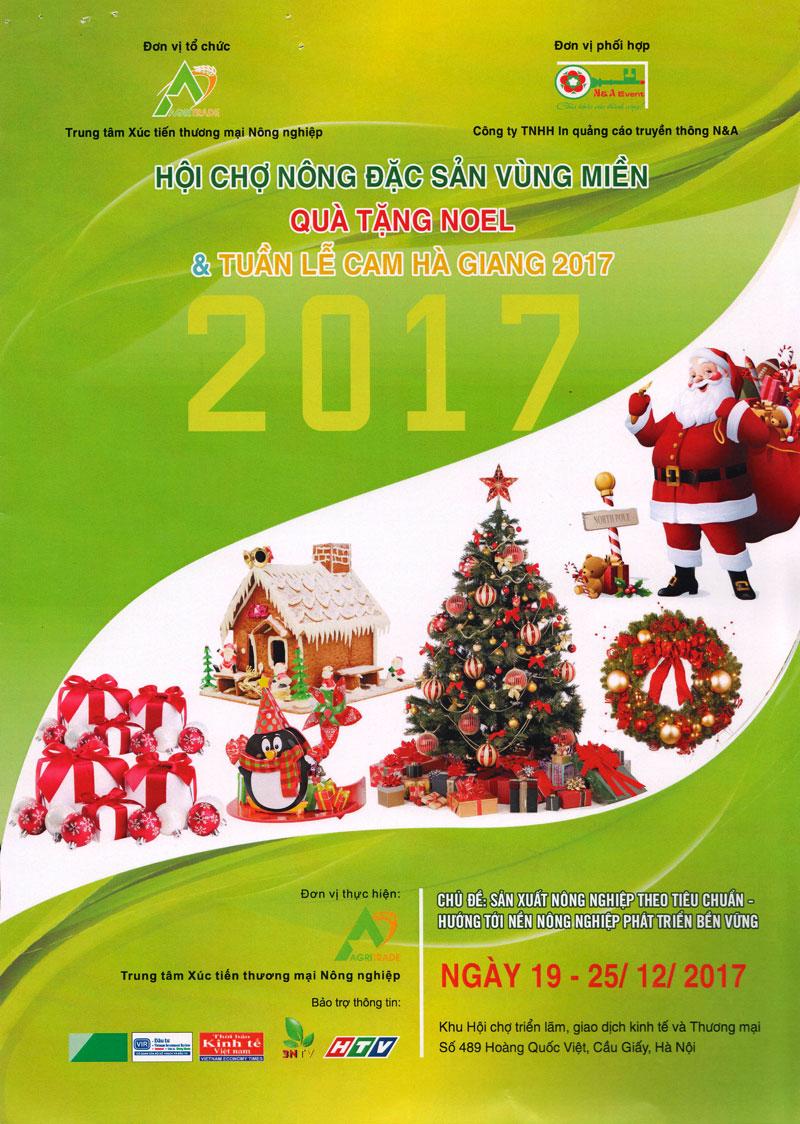Hội chợ nông đặc sản vùng miền, quà tặng Noel và Tuần lễ Cam Hà Giang 2017