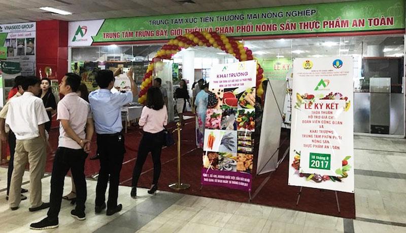 Trung tâm trưng bày, giới thiệu và phân phối nông sản thực phẩm an toàn