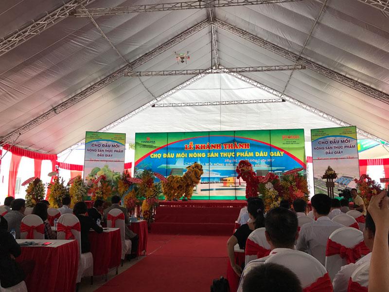 Hình ảnh tại buổi lễ Khánh thành Chợ đầu mối Nông sản thực phẩm Dầu Giây, sáng ngày 28/6/2017
