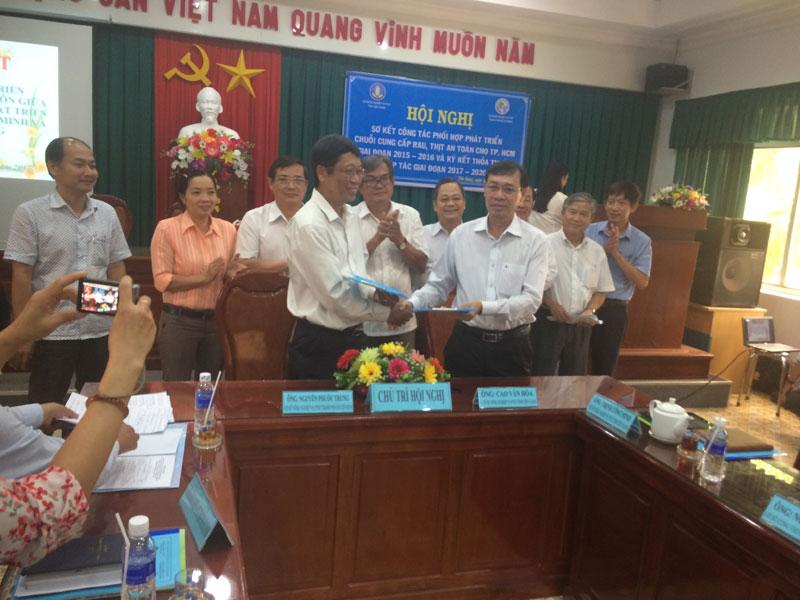 Hội nghị sơ kết công tác phối hợp phát triển chuỗi cung ứng rau, thịt an toàn cho Thành phố Hồ Chí Minh