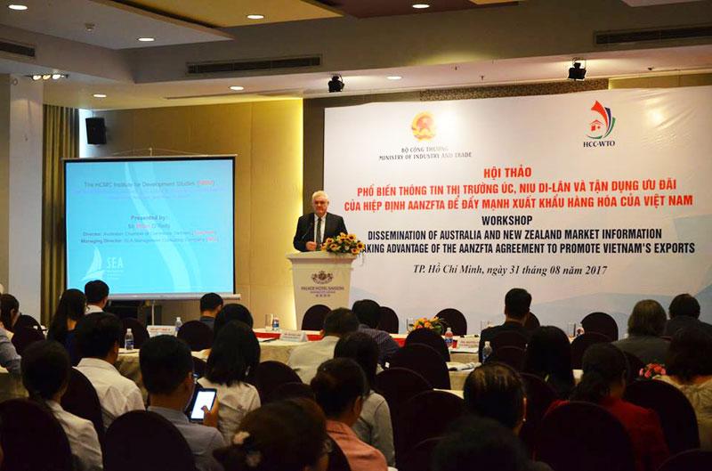 Hội thảo Phổ biến thông tin thị trường Úc, Niu Di – Lân và tận dụng ưu đãi Hiệp định AANZFTA để đẩy mạnh xuất khẩu hàng hóa của Việt Nam