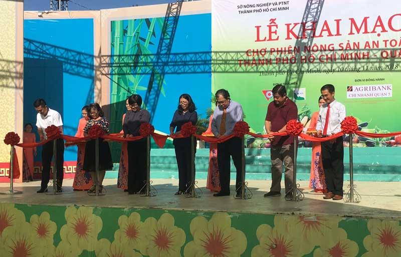 Phát triển thêm 3 điểm chợ phiên nông sản an toàn thành phố Hồ Chí Minh