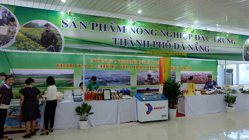 Gian hàng sản phẩm nông nghiệp đặc trưng Thành phố Đà Nẵng