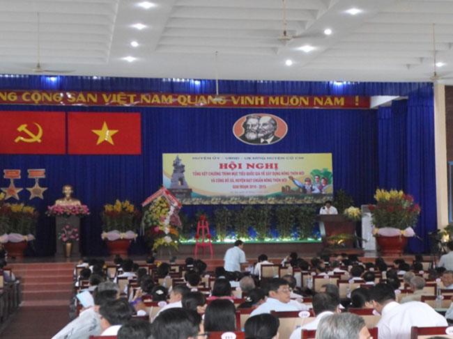 Hội nghị Tổng kết chương trình mục tiêu quốc gia xây dựng nông thôn mới trên địa bàn Huyện Củ Chi (giai đoạn 2010 – 2015)