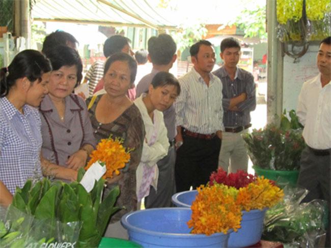 Giao lưu giữa Hợp tác xã Dịch vụ Đầm Sen, BQL chợ hoa Đầm Sen với các Nhà vườn trồng hoa kiểng