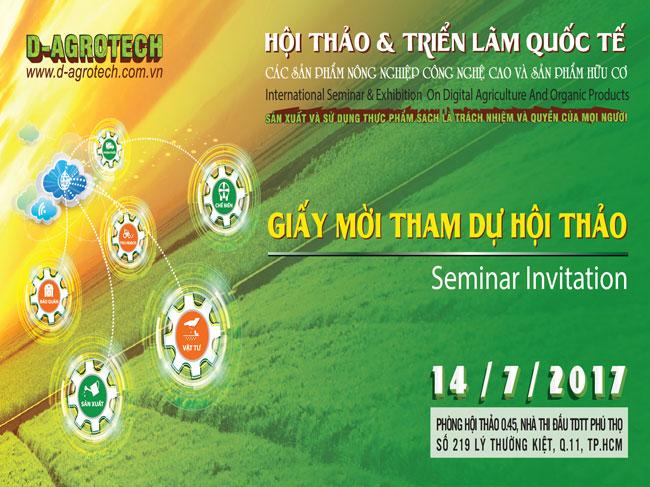 """Hội thảo """"Công nghệ cao gắn với định hướng phát triển nông nghiệp hữu cơ và những ứng dụng trong thực tế của ngành nông nghiệp Việt Nam"""""""