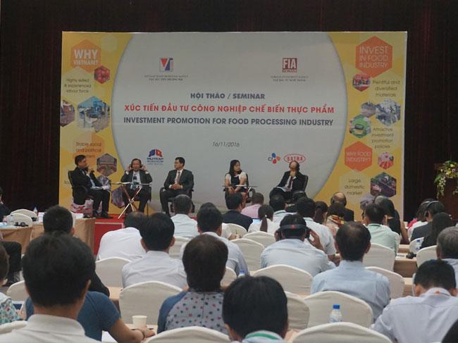 """Hội thảo """"Xúc tiến đầu tư trong lĩnh vực công nghiệp chế biến thực phẩm"""""""