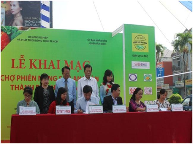 Khai mạc Chợ phiên Nông sản an toàn thành phố Hồ Chí Minh – Quận Bình Tân