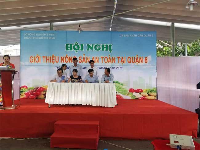 Hội nghị Giới thiệu sản phẩm VietGAP cho các trường học, nhà hàng, khách sạn, bếp ăn công nghiệp, tiểu thương tại các chợ,…trên địa bàn quận 6, thành phố Hồ Chí Minh năm 2019