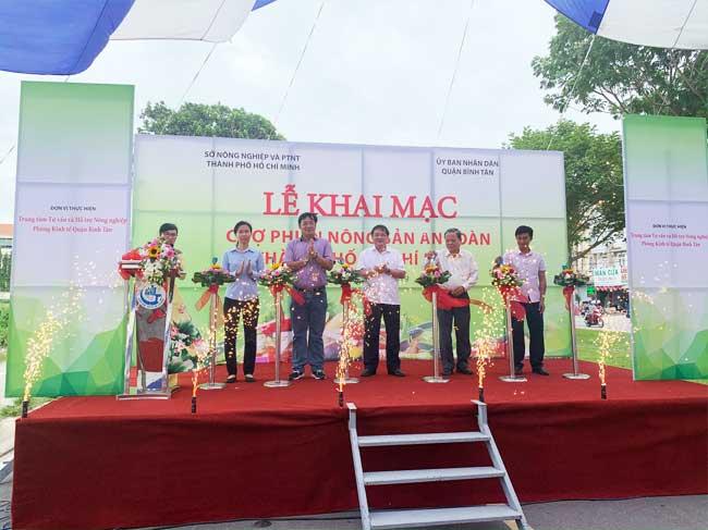 Khai mạc Chợ phiên Nông sản an toàn thành phố Hồ Chí Minh năm 2019 tại Quận Bình Tân