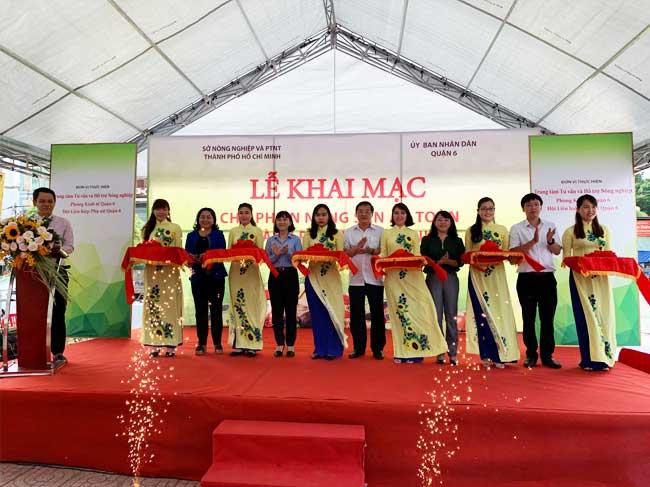 Khai mạc Chợ phiên Nông sản an toàn thành phố Hồ Chí Minh năm 2019 tại tòa nhà Lucky Palace, Quận 6