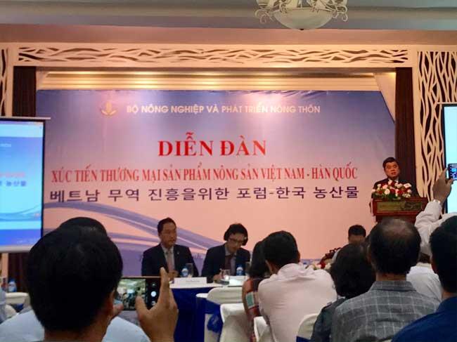 Diễn đàn Xúc tiến thương mại sản phẩm nông sản Việt Nam – Hàn Quốc